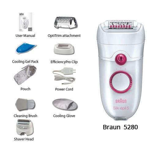 اپیلاتور و اپیلیدی براون ۵۲۸۰ ( Braun Silk Epil 5280 )