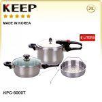 زودپز دوقلو کیپ ۶۰۰۰ ( همراه با سبد بخارپز ) KPC 6000